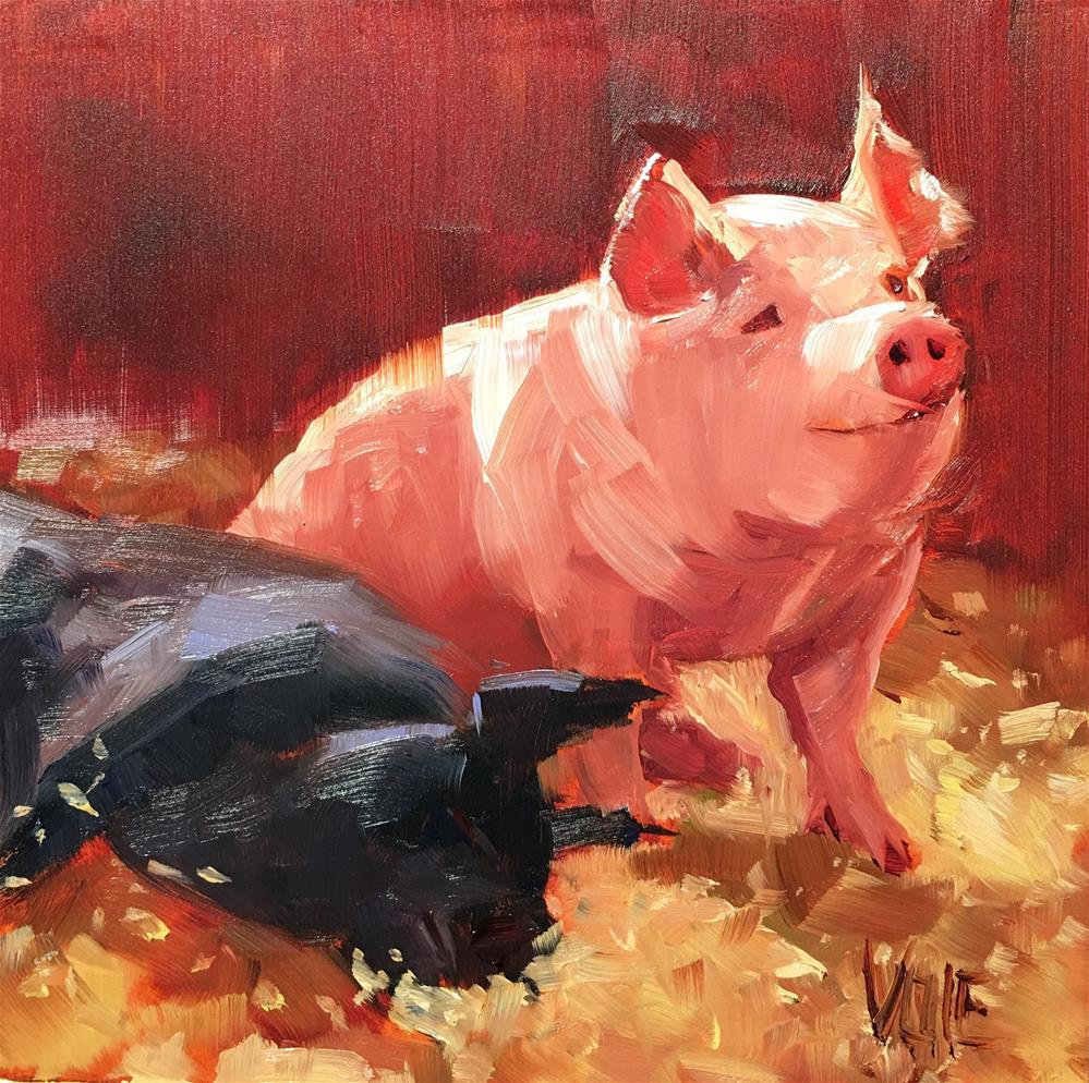 """#267 Early Bird"" original fine art by Patty Voje"