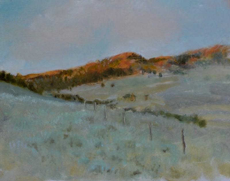 """Sunset on the Hadsell"" original fine art by Dorothy Redland"