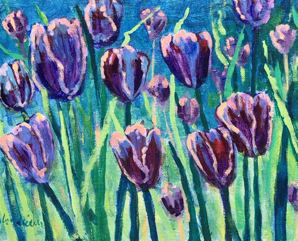 """""""Summer Sale Paintings Tulips"""" original fine art by Linda Blondheim"""