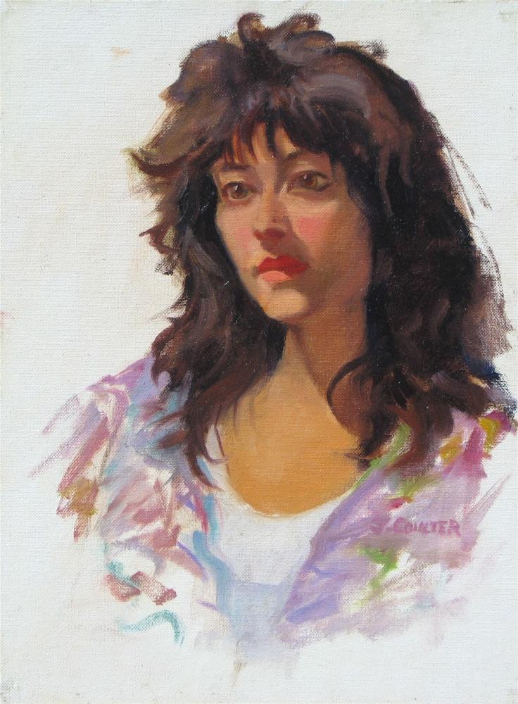 """""""Monique"""" original fine art by James Coulter"""
