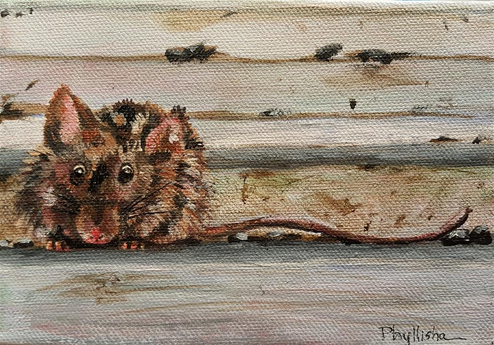 """There's a Mouse on the House!"" original fine art by Phyllisha Hamrick"