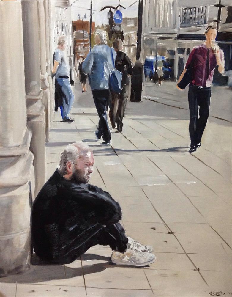 """Regret 2"" original fine art by James Coates"
