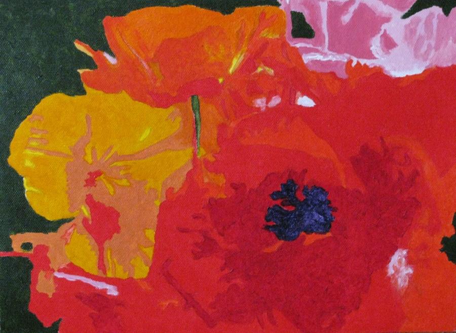 """""""Poppies"""" original fine art by Nan Johnson"""