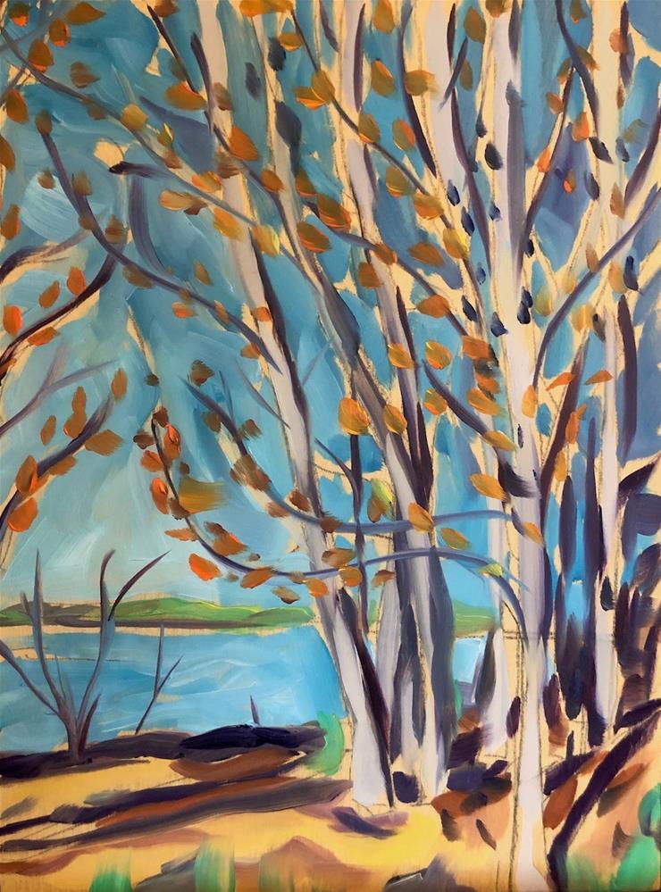 """Spring Trees"" original fine art by Kat Corrigan"