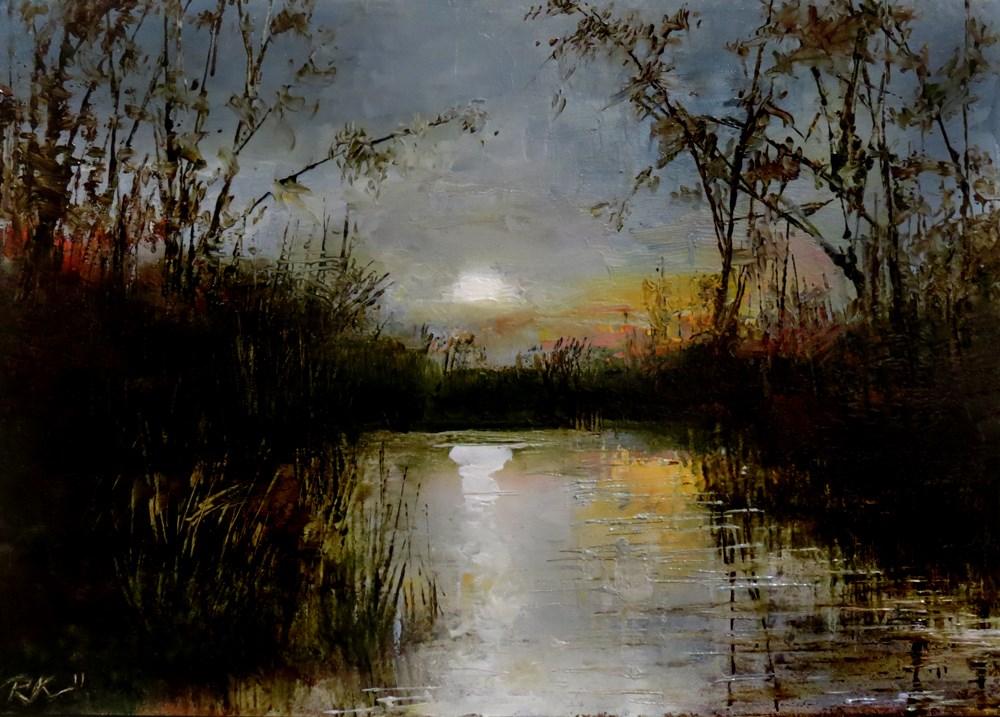 """Calm Water"" original fine art by Bob Kimball"