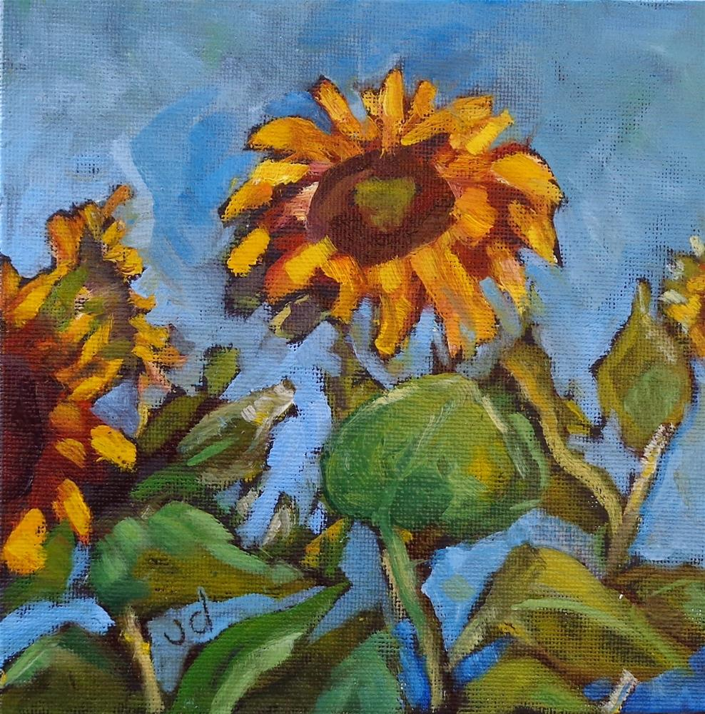 """Sunflowers"" original fine art by Jean Delaney"