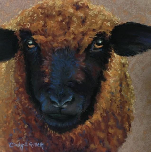 """Stare Down"" original fine art by Cindy Gillett"