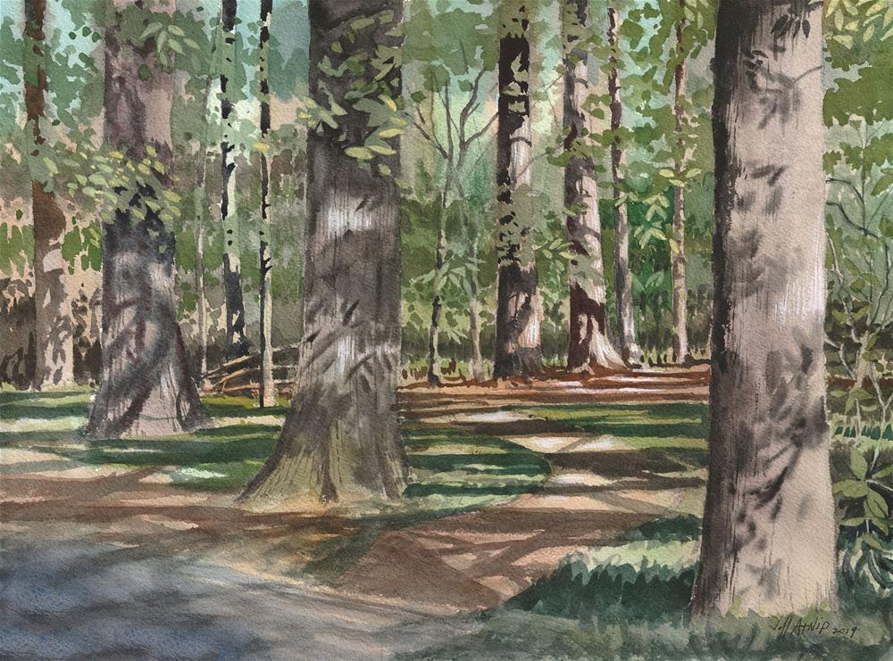 """Beside The Trail"" original fine art by Jeff Atnip"
