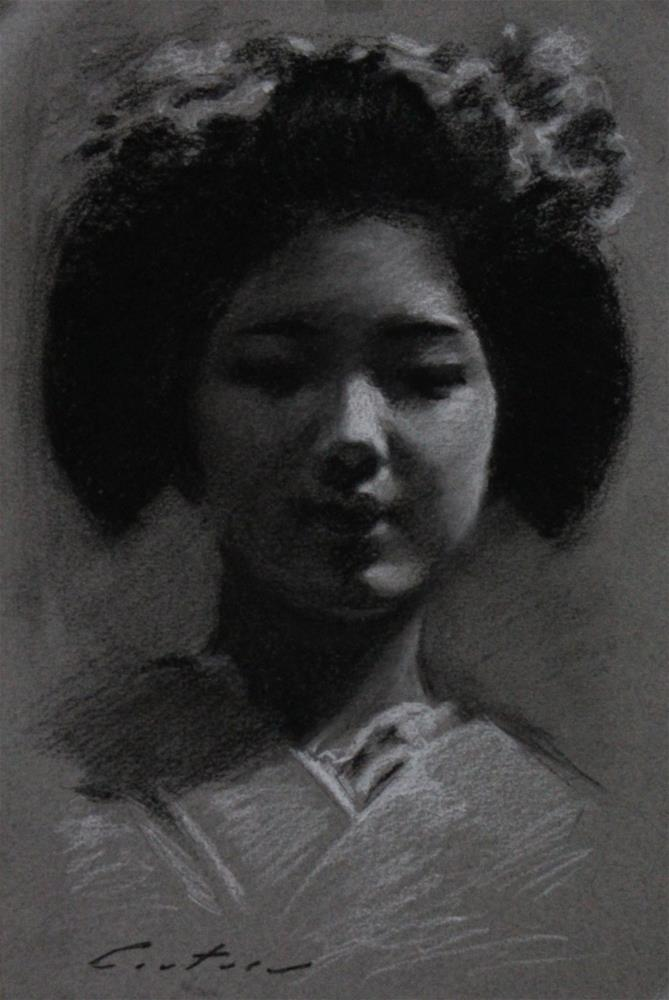 """Maiko Katsuna"" original fine art by Phil Couture"