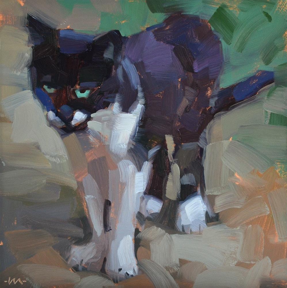 """Cattitude"" original fine art by Carol Marine"