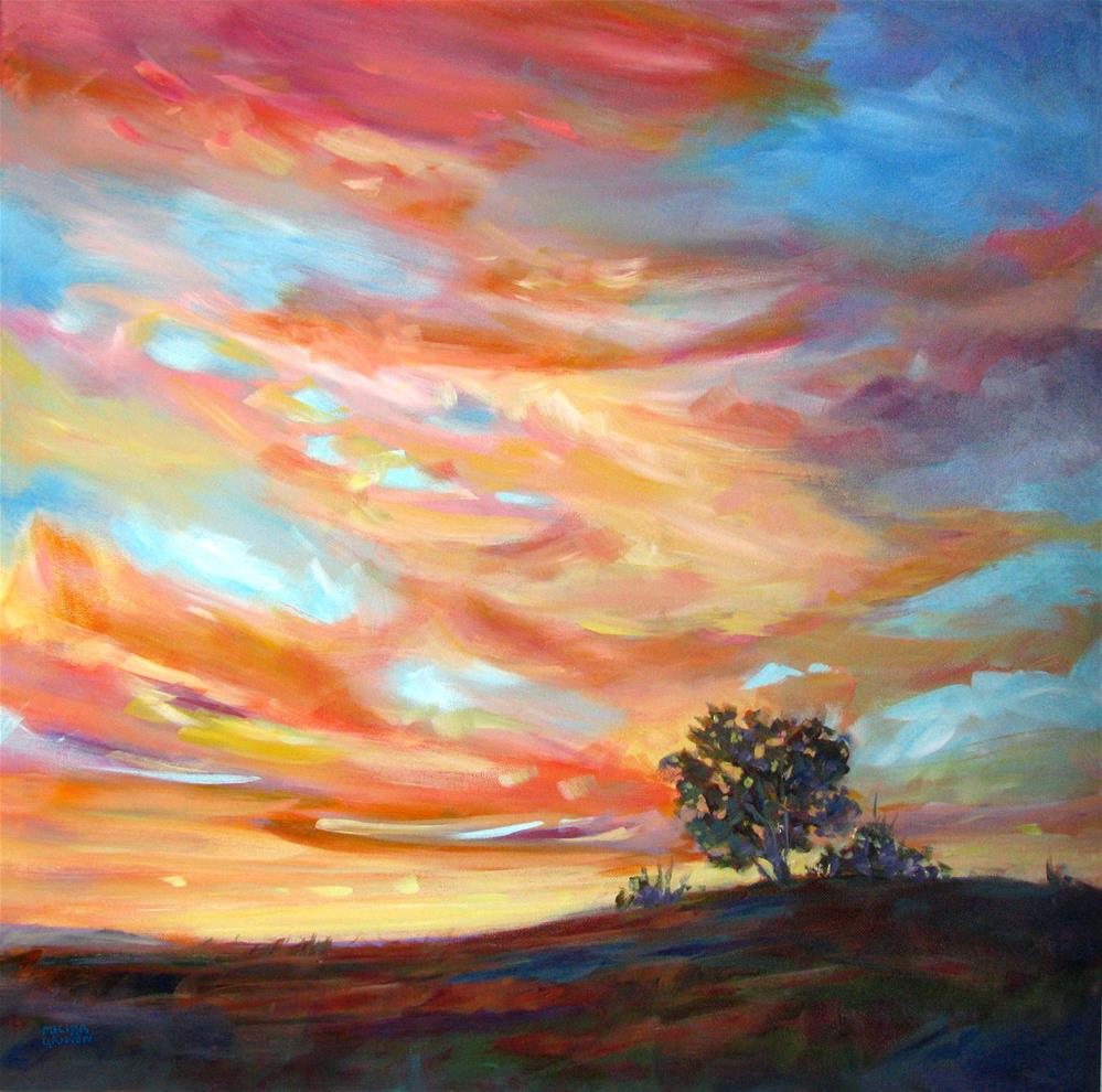 """Dancing Sunset Light"" original fine art by Melissa Gannon"