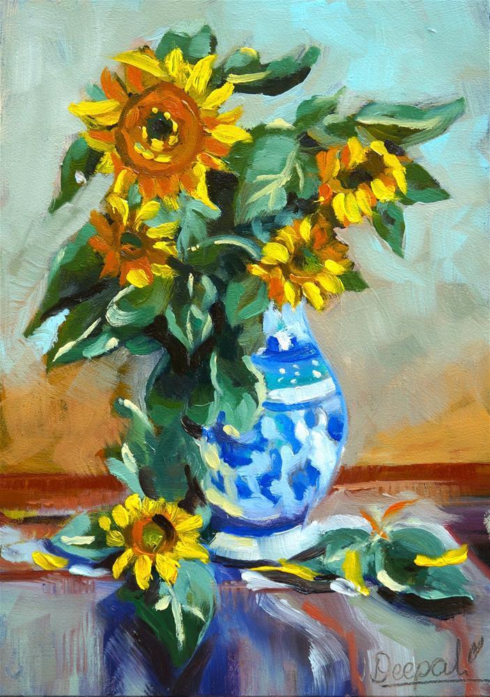 """Sunflowers"" original fine art by Dipali Rabadiya"