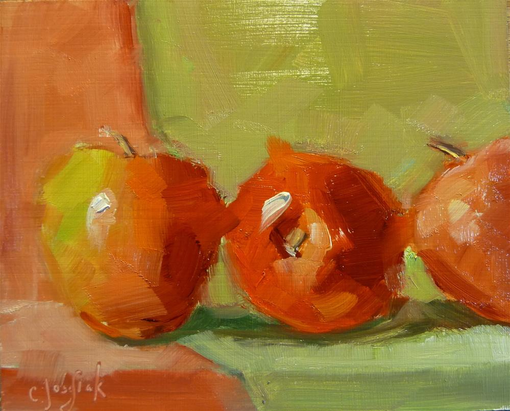 """Red and Green"" original fine art by Carol Josefiak"