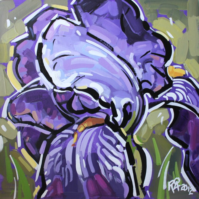 """""""Iris abstraction 4"""" original fine art by Roger Akesson"""