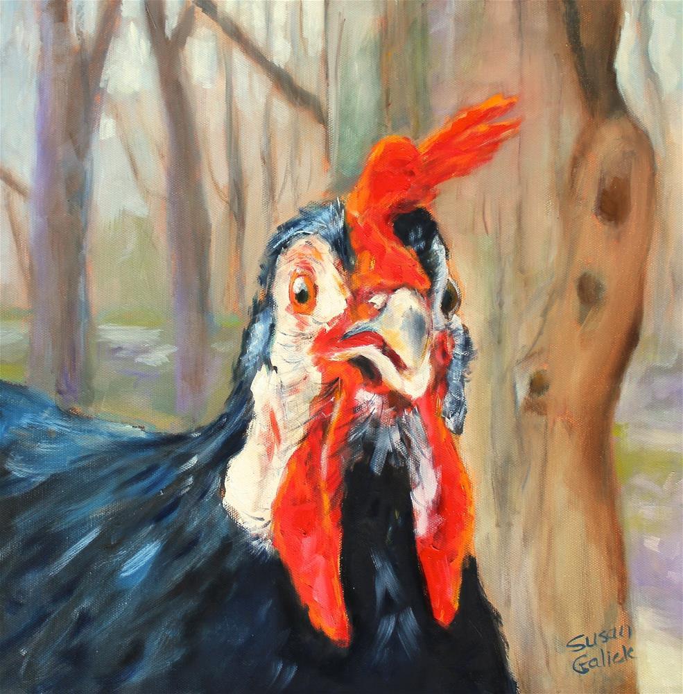 """""""Humphrey Fitzcluckin """" original fine art by Susan Galick"""