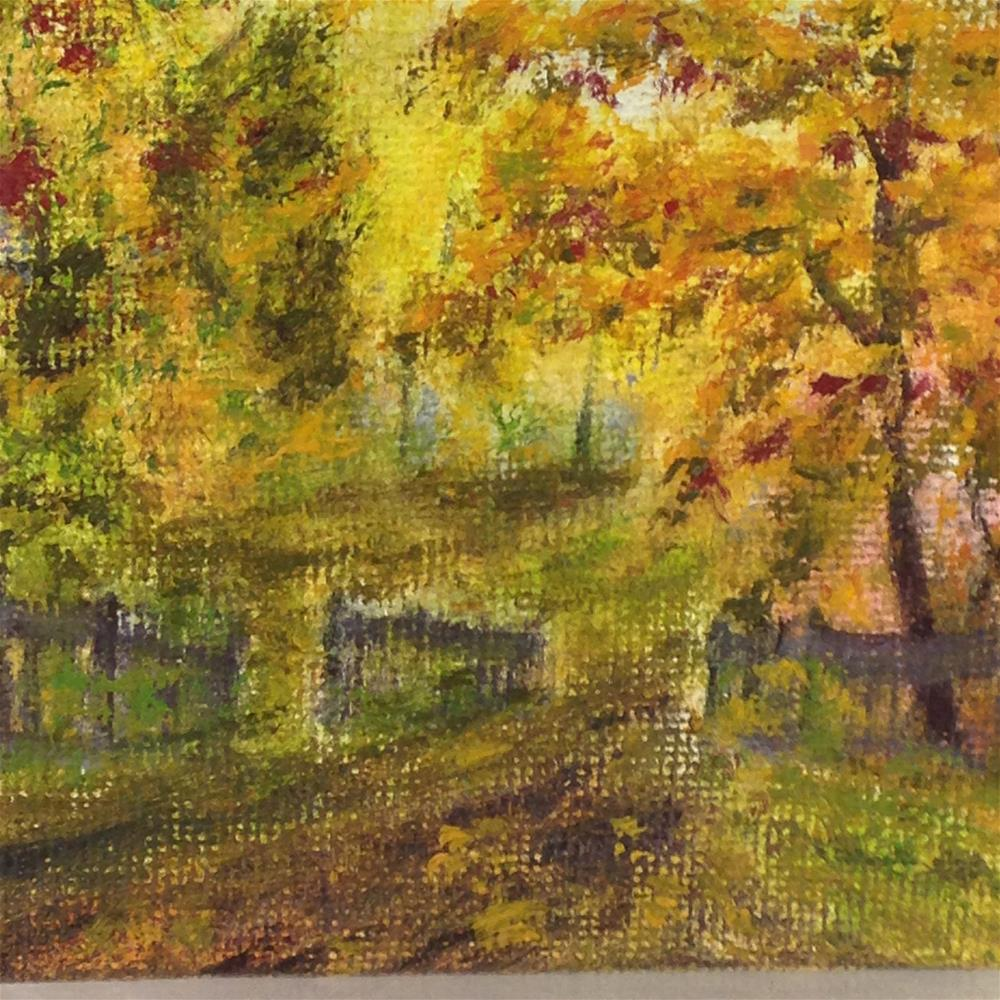 """Walk into Fall"" original fine art by Joy McMicken"