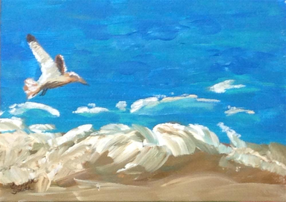 """Surf Fisher"" original fine art by Brenda Smith"