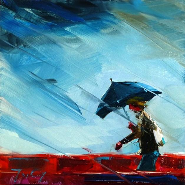 """""""regnerisch"""" original fine art by Jurij Frey"""