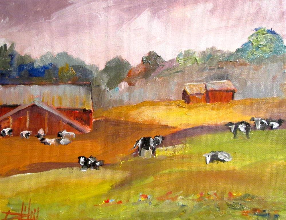 """Cattle"" original fine art by Delilah Smith"