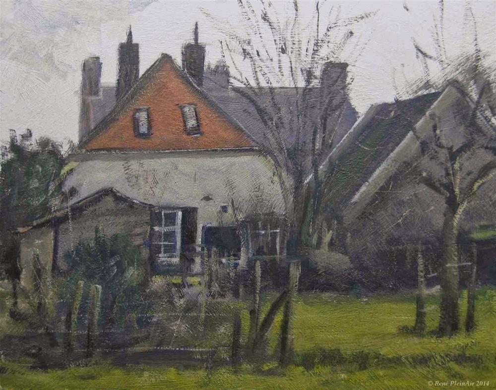 """Back gardens. Bronkhorst, Holland."" original fine art by René PleinAir"