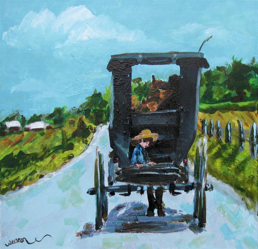 """Afternoon in Etheridge"" original fine art by Susan Elizabeth Jones"