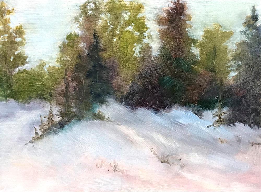 """The snow is pretty"" original fine art by Betty Argiros"