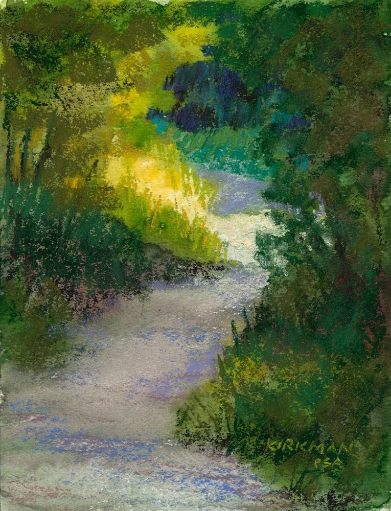 """""""Park Trail #22"""" original fine art by Rita Kirkman"""