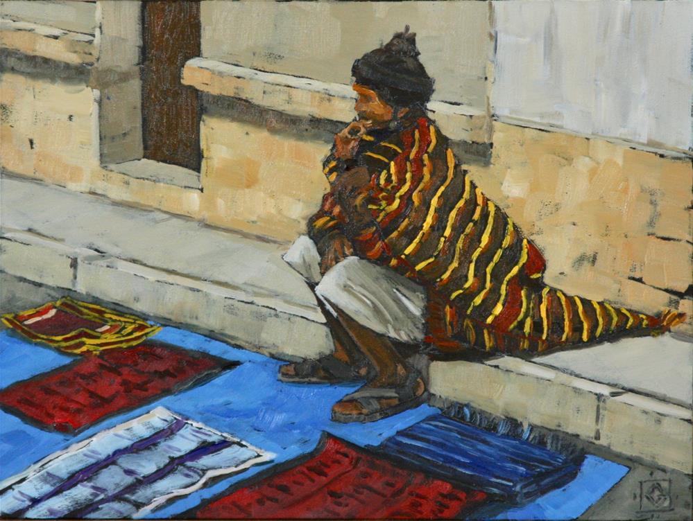 """Waiting For A Sale"" original fine art by Carol Granger"