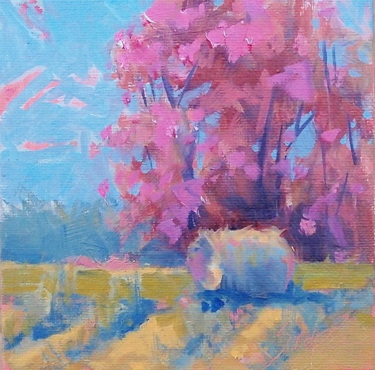 """""""Field of Color"""" original fine art by Connie Snipes"""