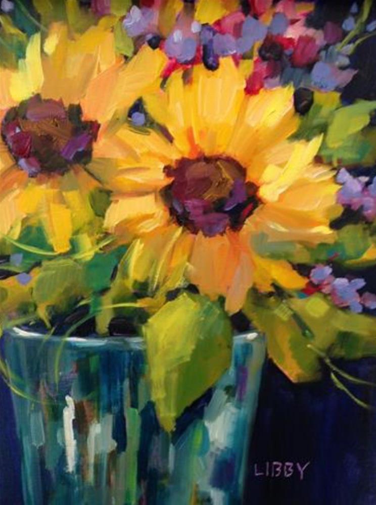 """Sunflower Weekend"" original fine art by Libby Anderson"