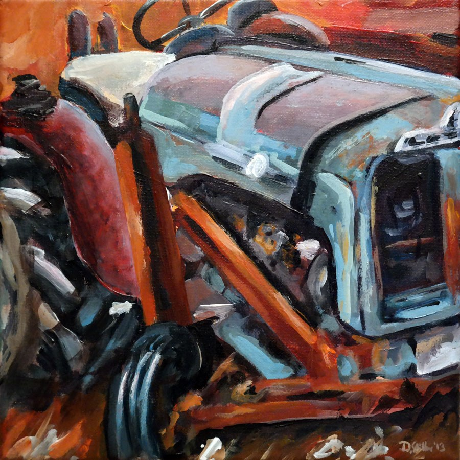"""0811 Ye olde tractor"" original fine art by Dietmar Stiller"