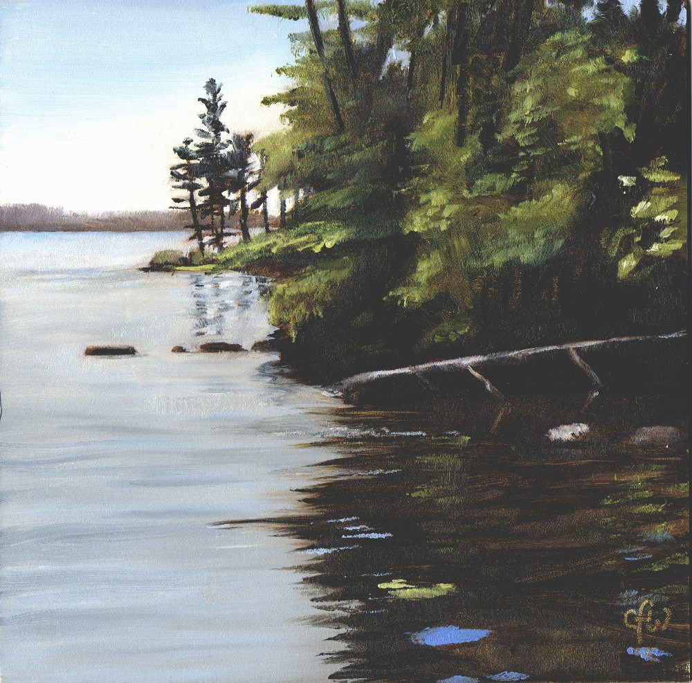 """""""Trees by the Shore"""" original fine art by Gary Westlake"""