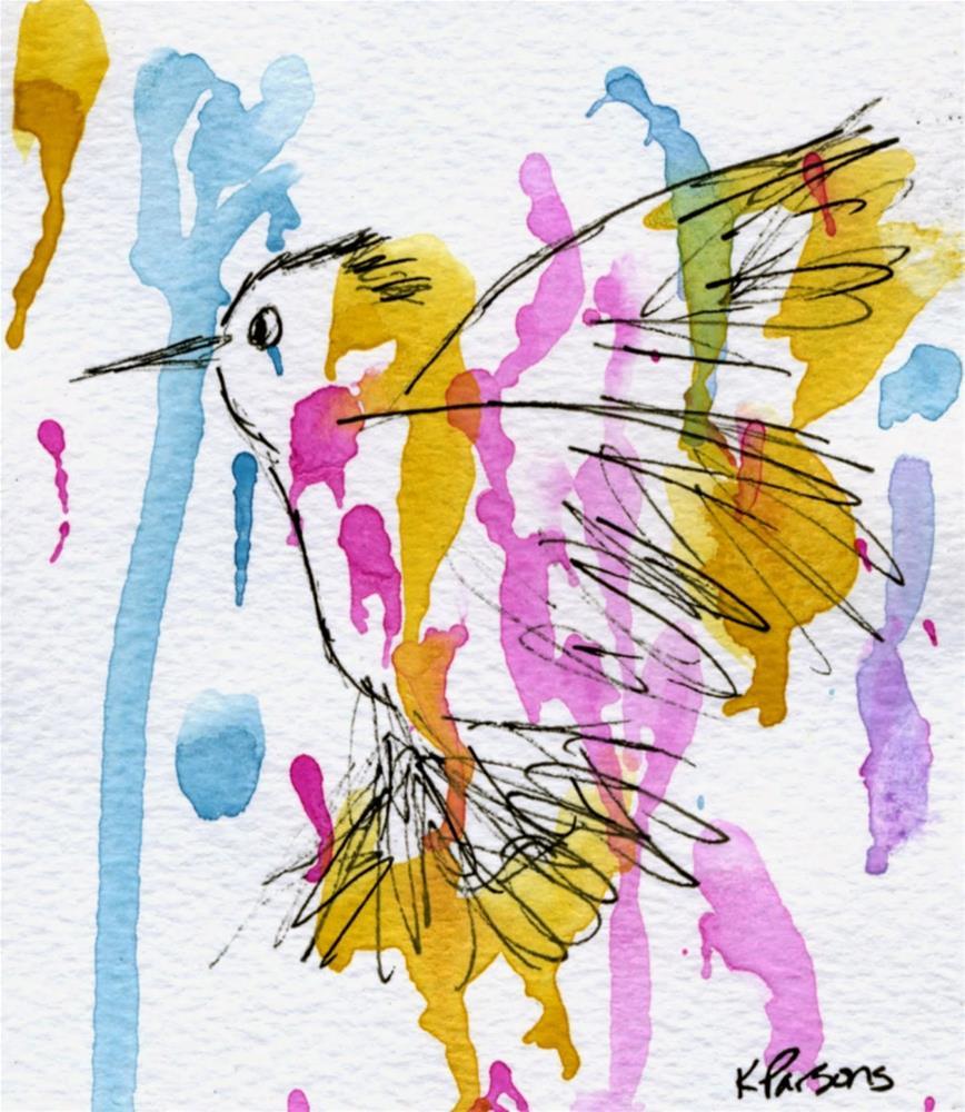 """Hummingbird"" original fine art by Kali Parsons"