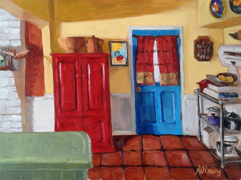 """""""Blue Door"""" original fine art by Alice O'Leary"""