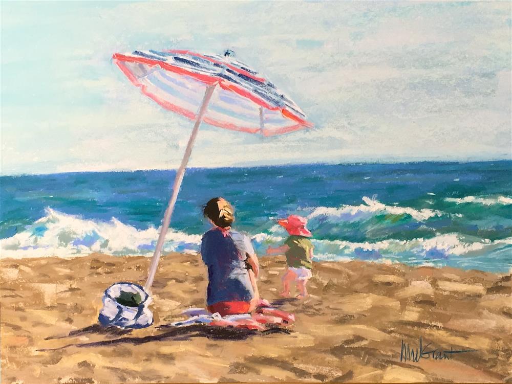 """Beach Baby"" original fine art by Michelle Wells Grant"