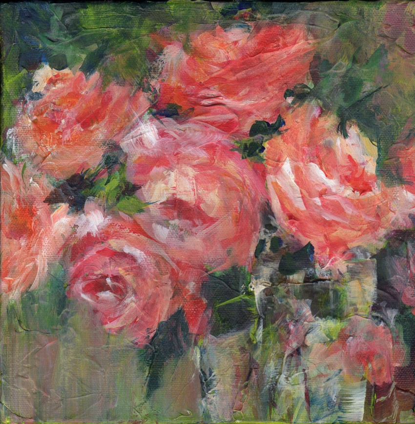 """""""Roses on the Dark Side"""" original fine art by Sue Dion"""