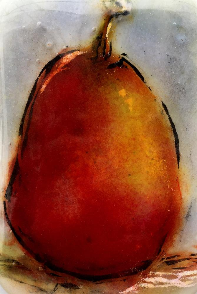 """Red Pear"" original fine art by Kristen Dukat"