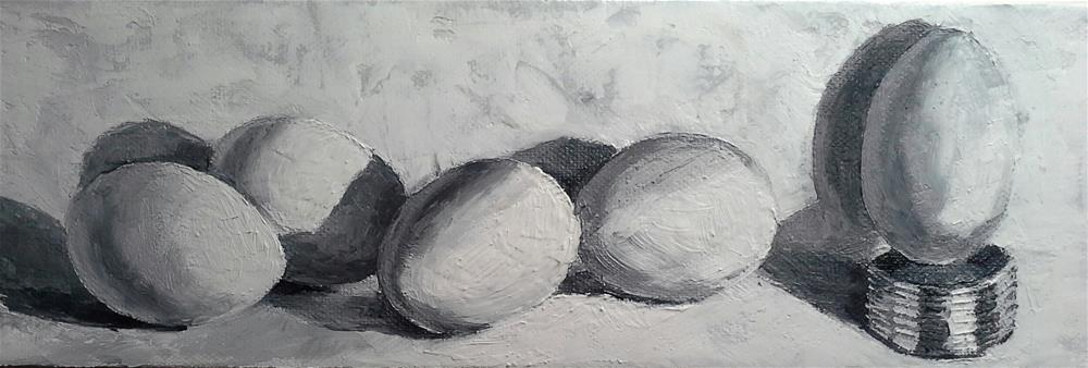 """Eggs"" original fine art by Elaine Evans"