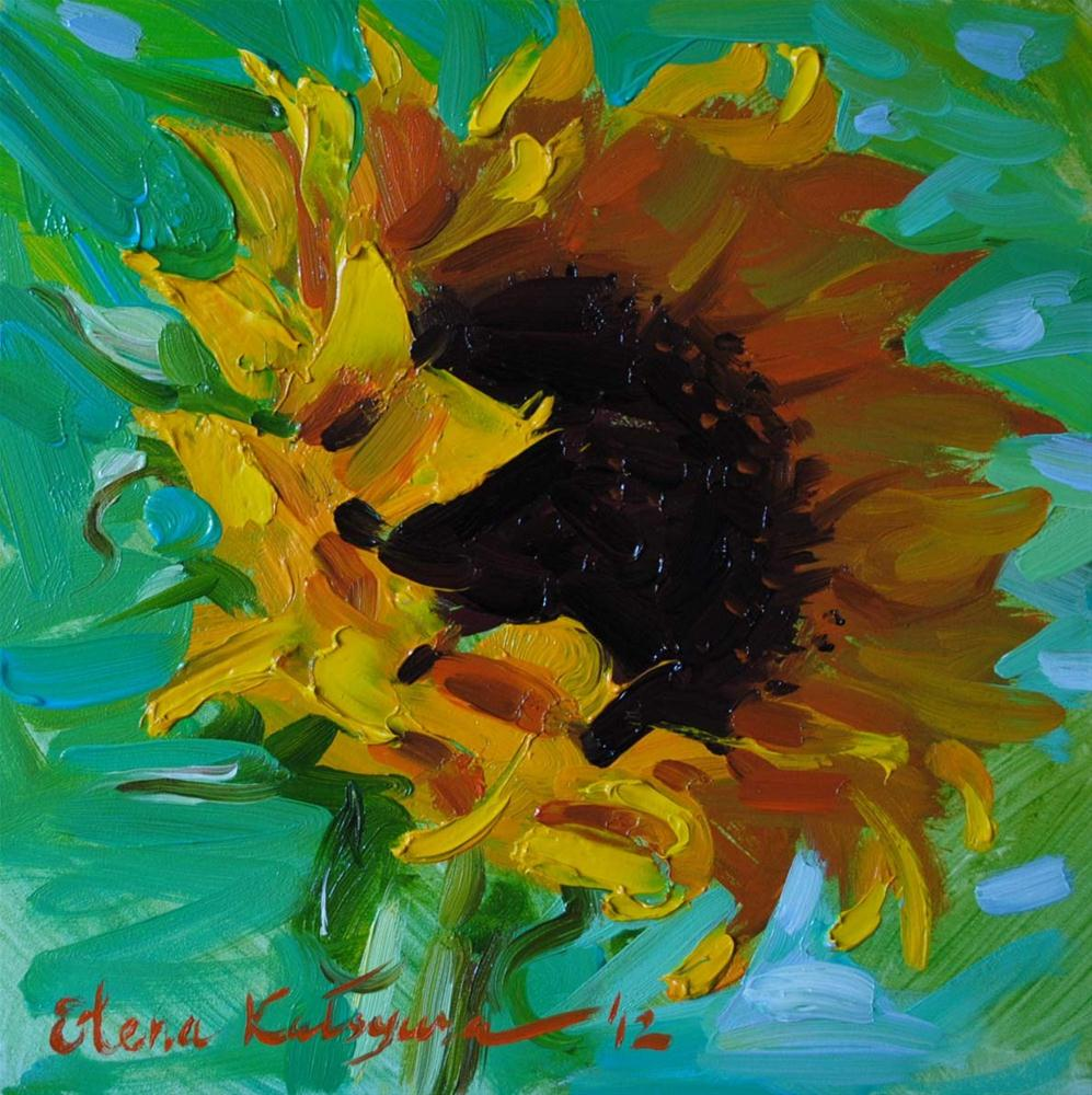 """Sunflower"" original fine art by Elena Katsyura"