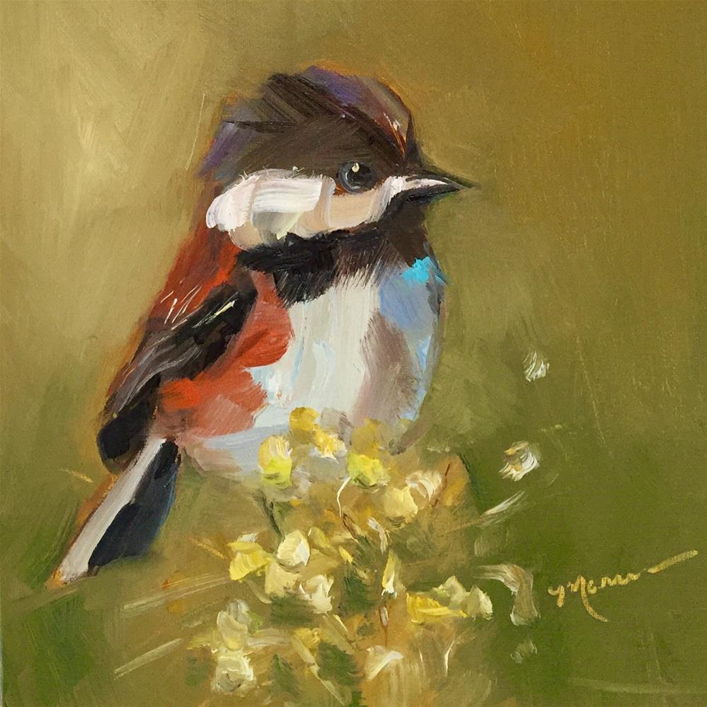 """My Little Chickadee"" original fine art by Marcia Hodges"