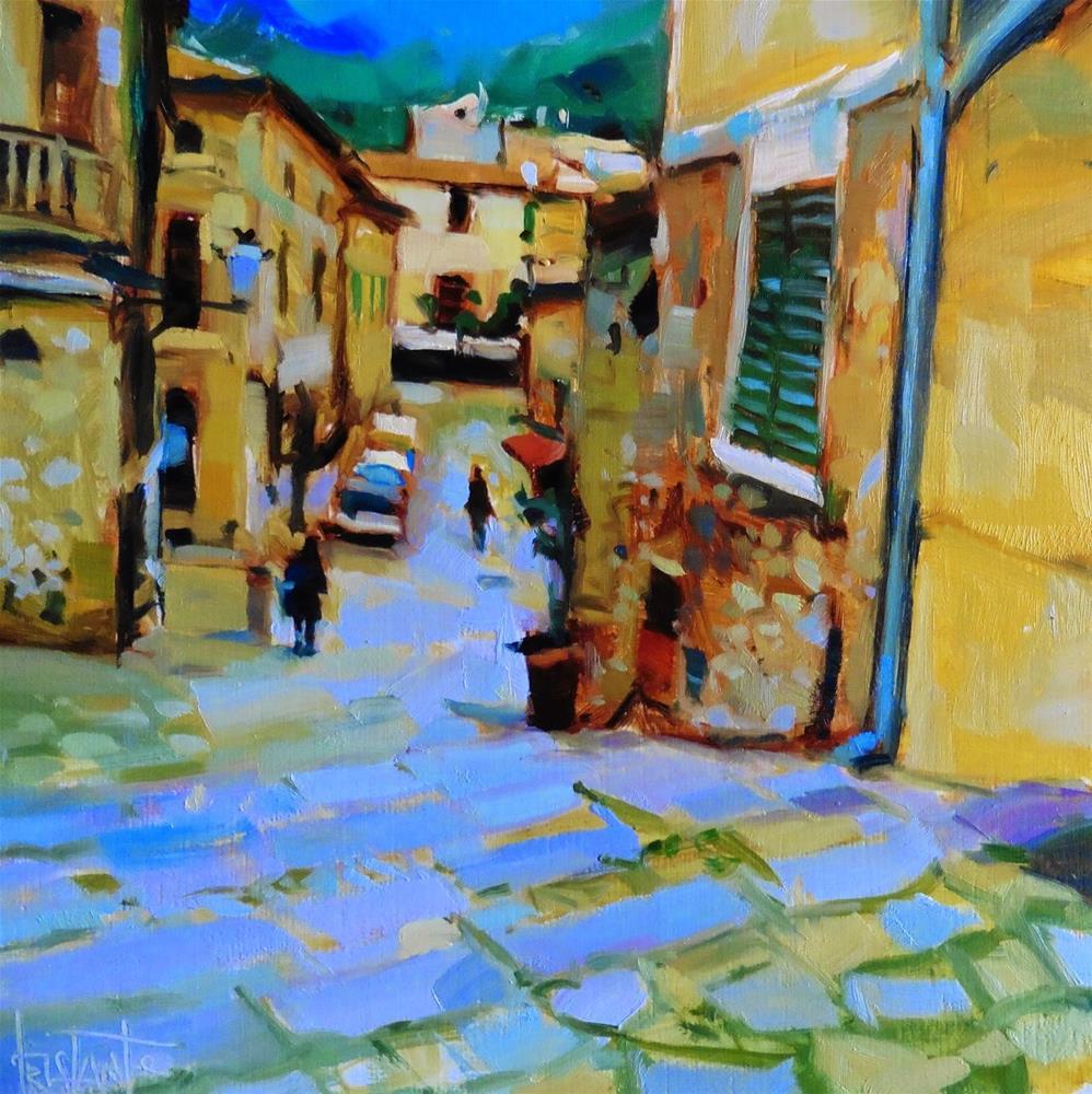 """Street of Valldemossa"" original fine art by Víctor Tristante"