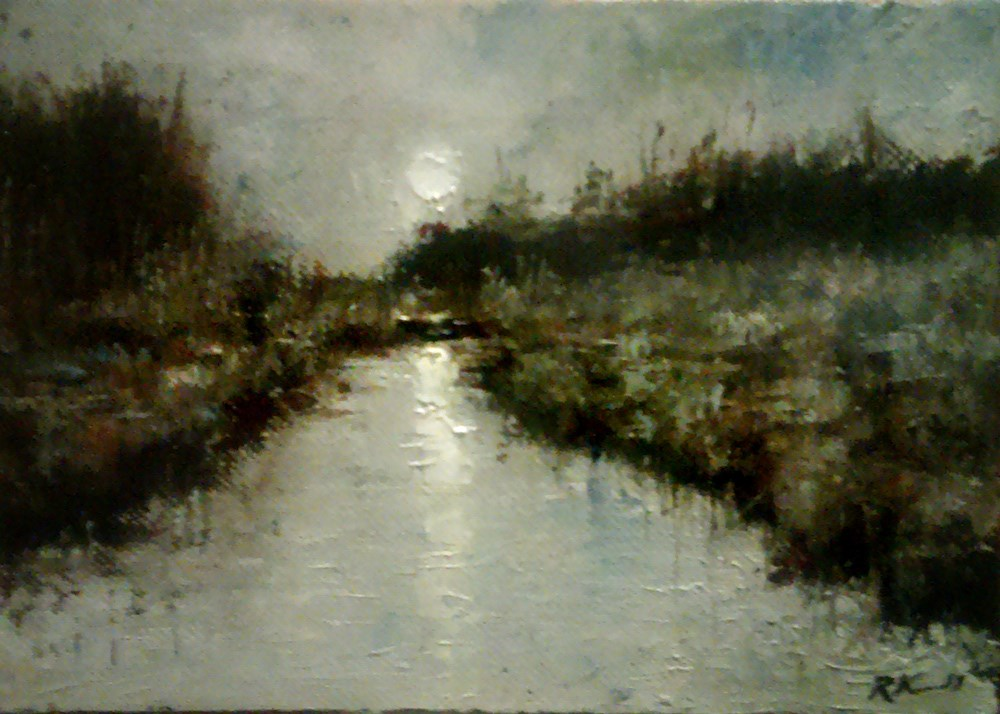 """Morning in the Marshes II"" original fine art by Bob Kimball"
