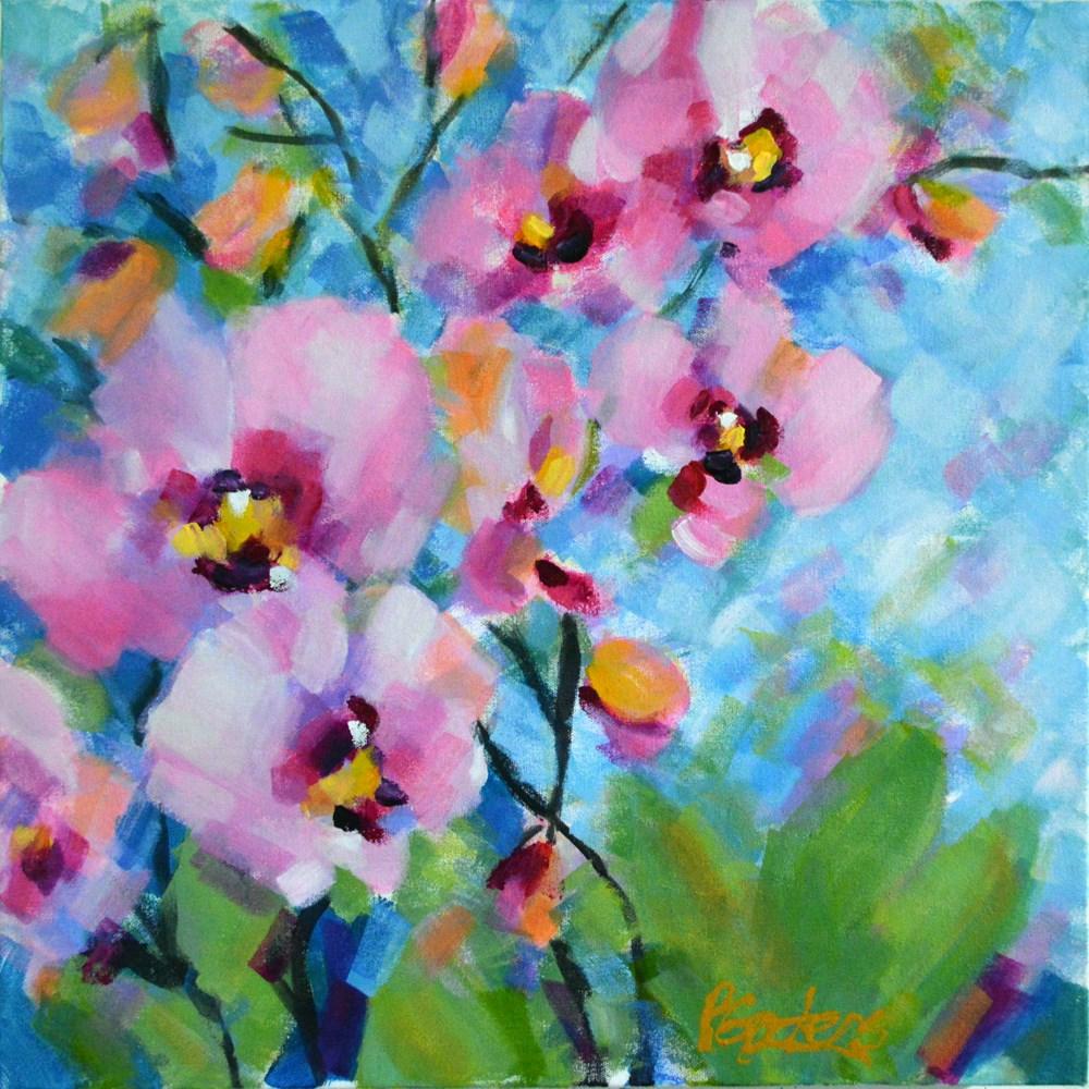 """""""Jungle Pinks"""" original fine art by Pamela Gatens"""