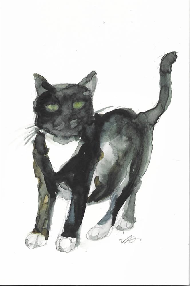 """Daily Cat 47"" original fine art by Jean Krueger"