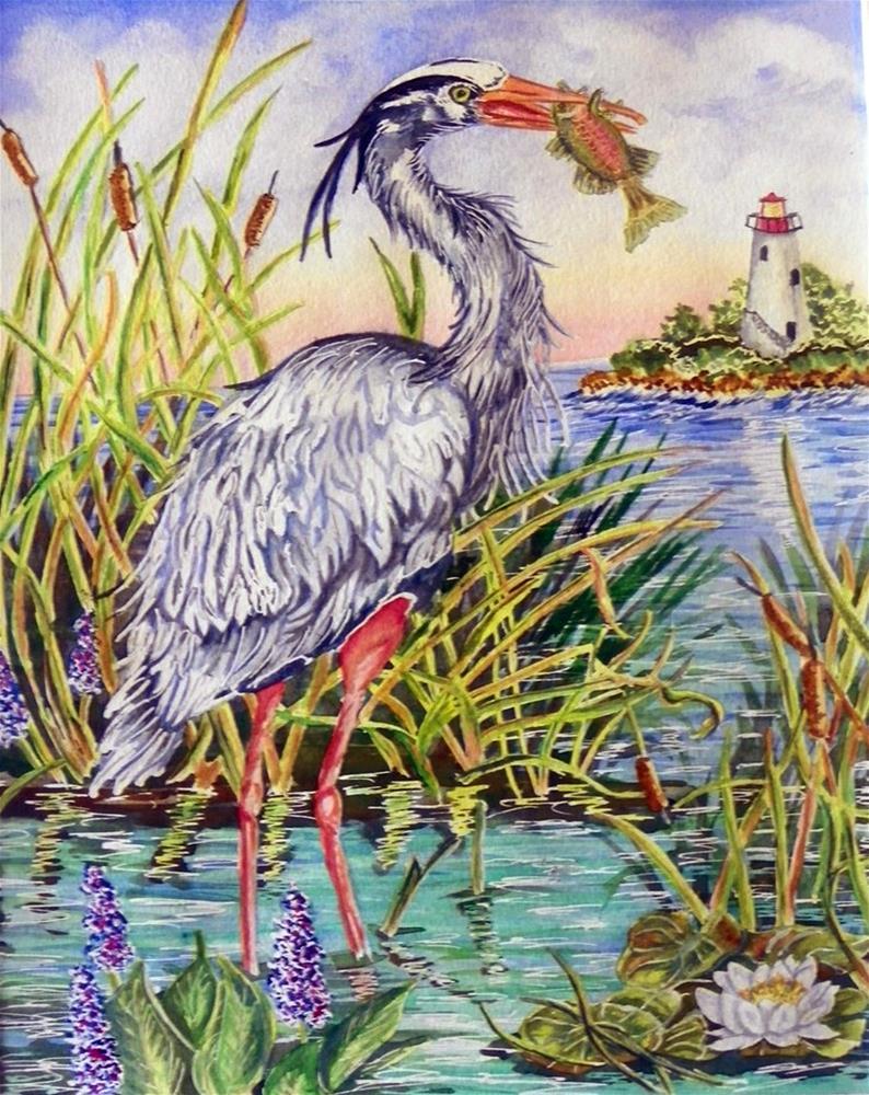 """""""Fish Dinner # 157"""" original fine art by Jim Whiteside"""