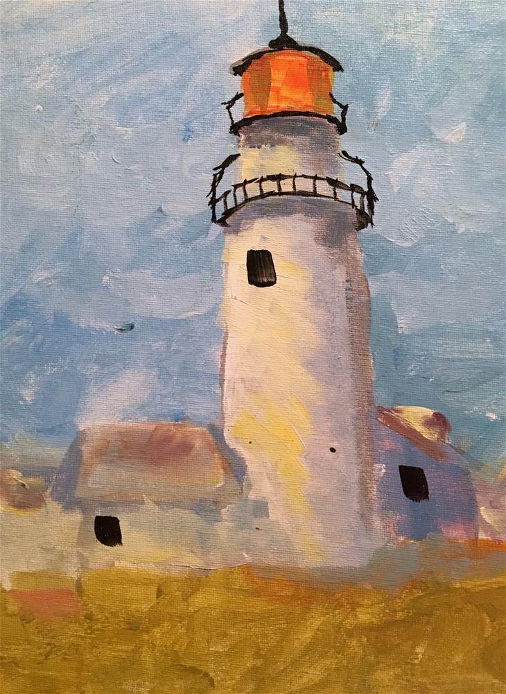 """Lighthouse study"" original fine art by Susan Elizabeth Jones"