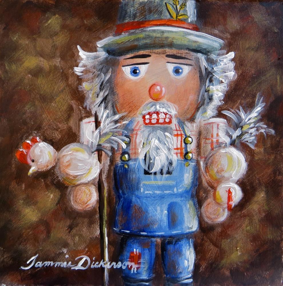 """""""Nutcracker Farmer"""" original fine art by Tammie Dickerson"""