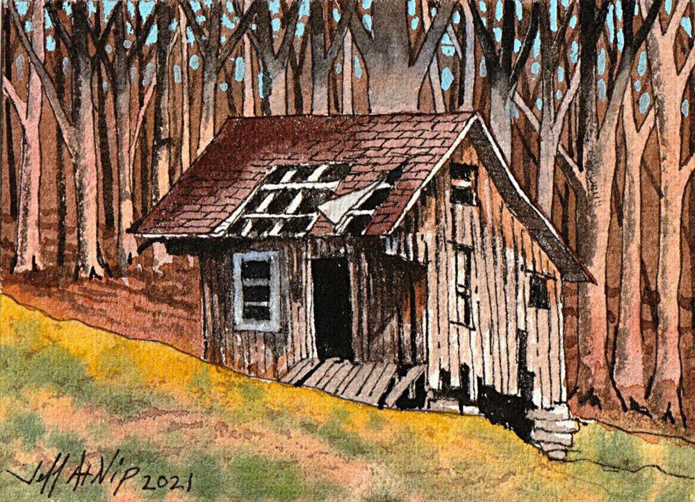 """Humble Beginnings"" original fine art by Jeff Atnip"