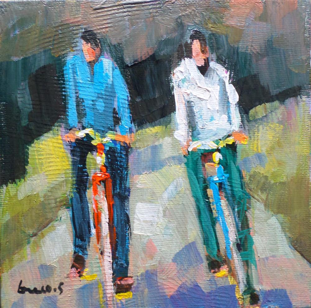 """Bicycle ride"" original fine art by salvatore greco"
