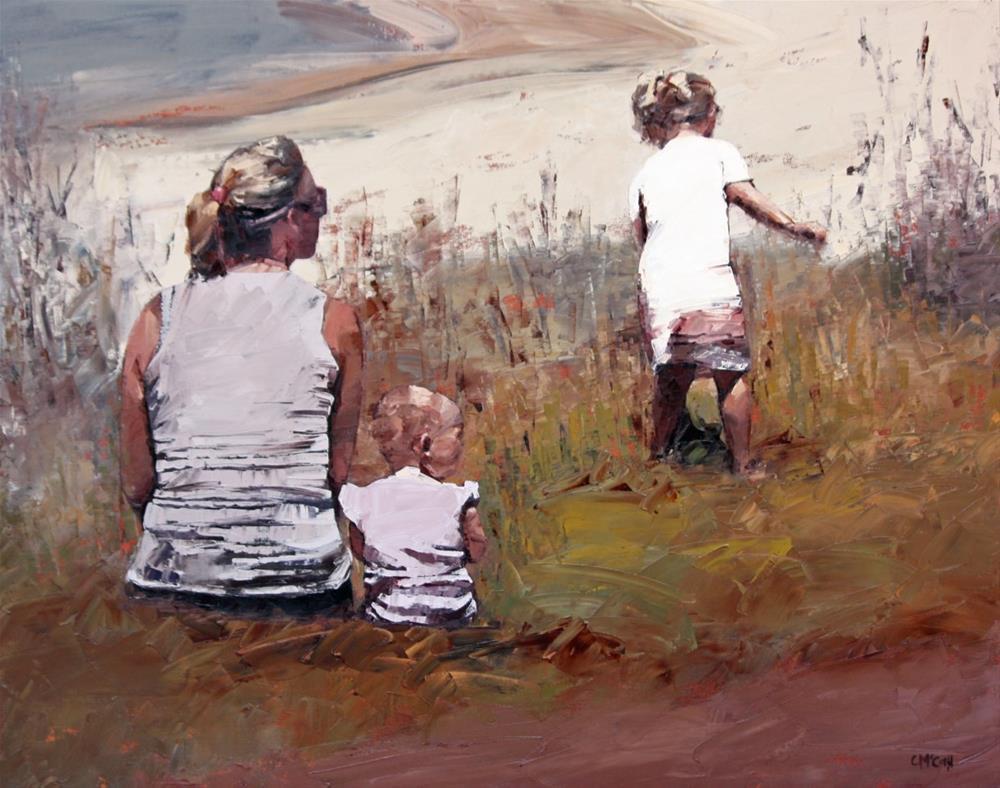 """""""Beachside VI"""" original fine art by Claire McCall"""